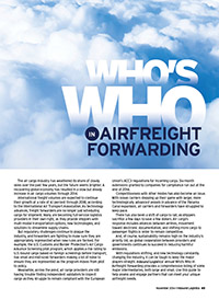 Who's Who in Airfreight Forwarding 2014 Cover