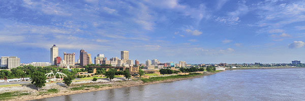 Memphis riverfront