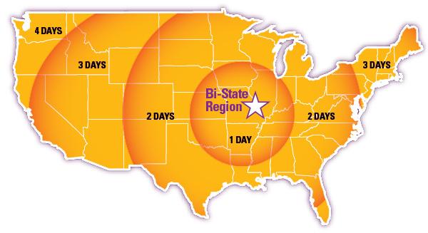 Logistics Leadership The New Spirit Of St Louis Inbound Logistics - Saint louis on the us map