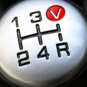 gearshift with fifth gear replaced by V