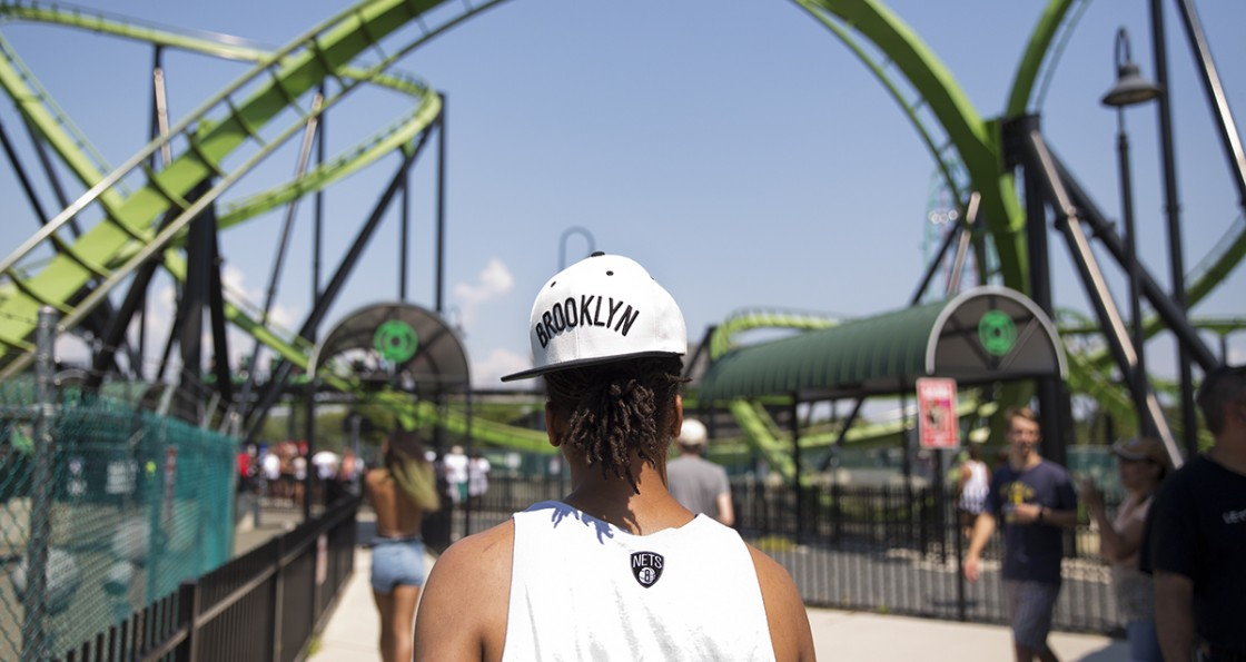 The New York Liberty go to Six Flags Great Adventure on their day off, on August 16, 2015 in Jackson, New Jersey. (Photo by Annie Flanagan/The Players Tribune)
