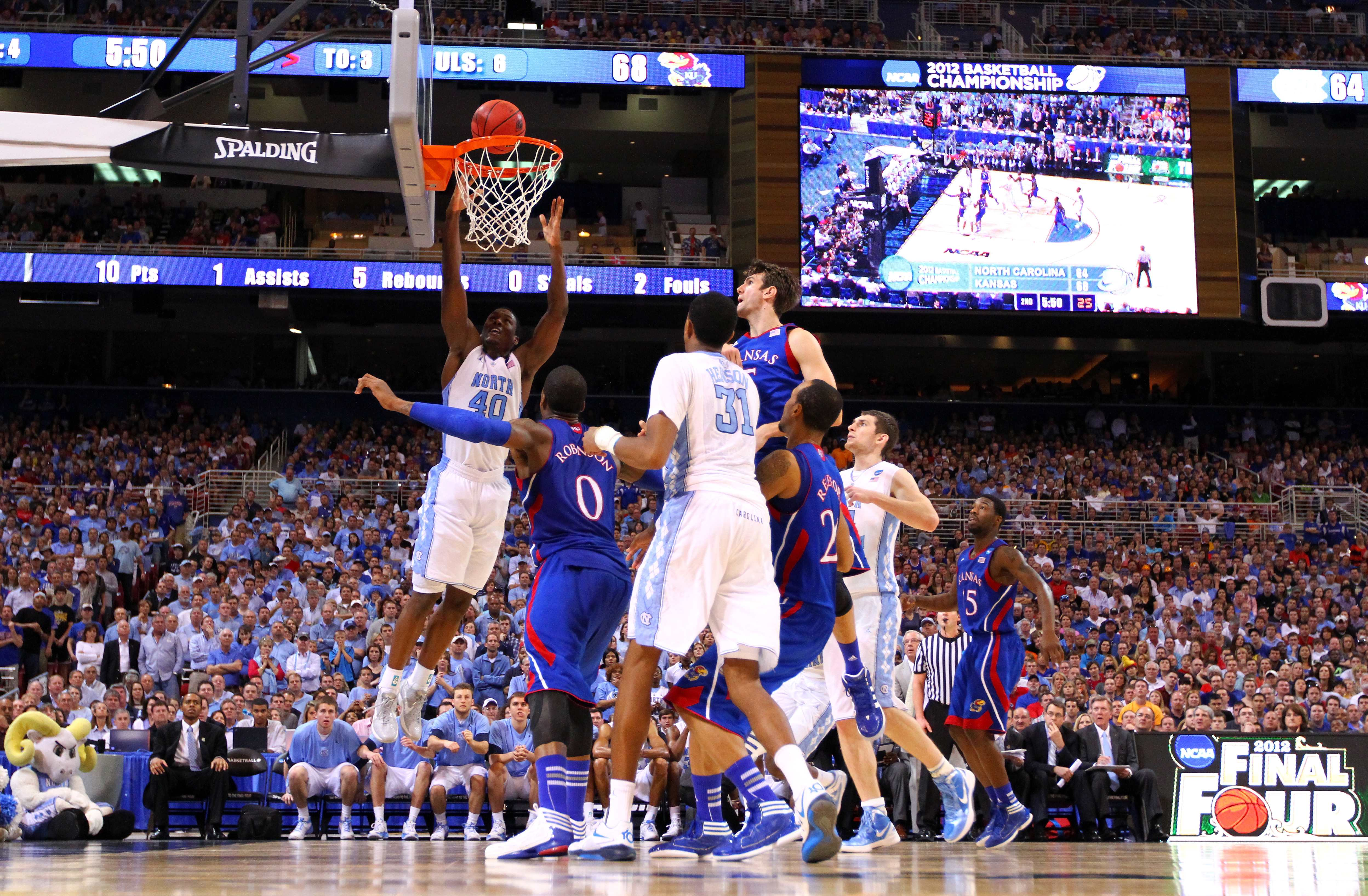 NCAA Basketball Tournament - Kansas v North Carolina