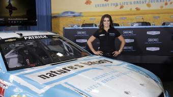 August 18, 2015: Danica Patrick sponsor announcement at Stewart-Haas Racing in Concord, NC. (HHP/Harold Hinson)