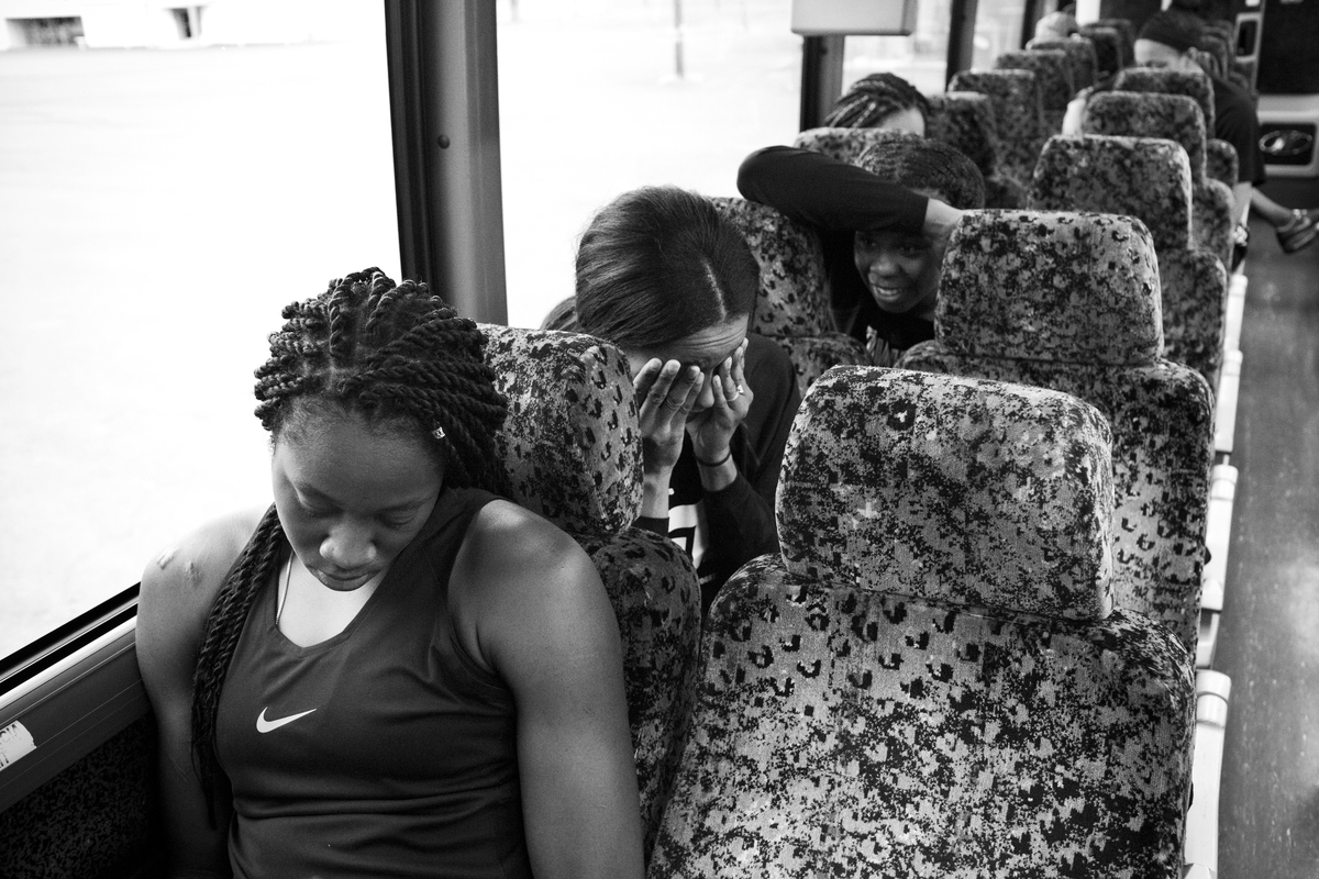 Tina Charles, Swin Cash and Epiphanny Prince on the way back to the hotel.