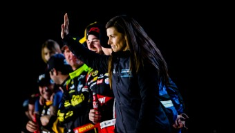 DAYTONA, FL -- February 13, 2016 -- NASCAR driver Danica Patrick competes in her new Nature's Bakery #10 car in The Sprint Unlimited at DAYTONA at Daytona International Speedway on Saturday night.  (PHOTO / Chip Litherland of The Players Tribune)