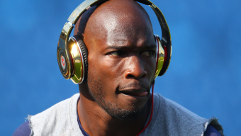 BUFFALO, NY - SEPTEMBER 25: Chad Ochocinco #85 of the New England Patriots warms up before their NFL game against the Buffalo Bills at Ralph Wilson Stadium on September 25, 2011 in Orchard Park, New York. (Photo by Tom Szczerbowski/Getty Images)