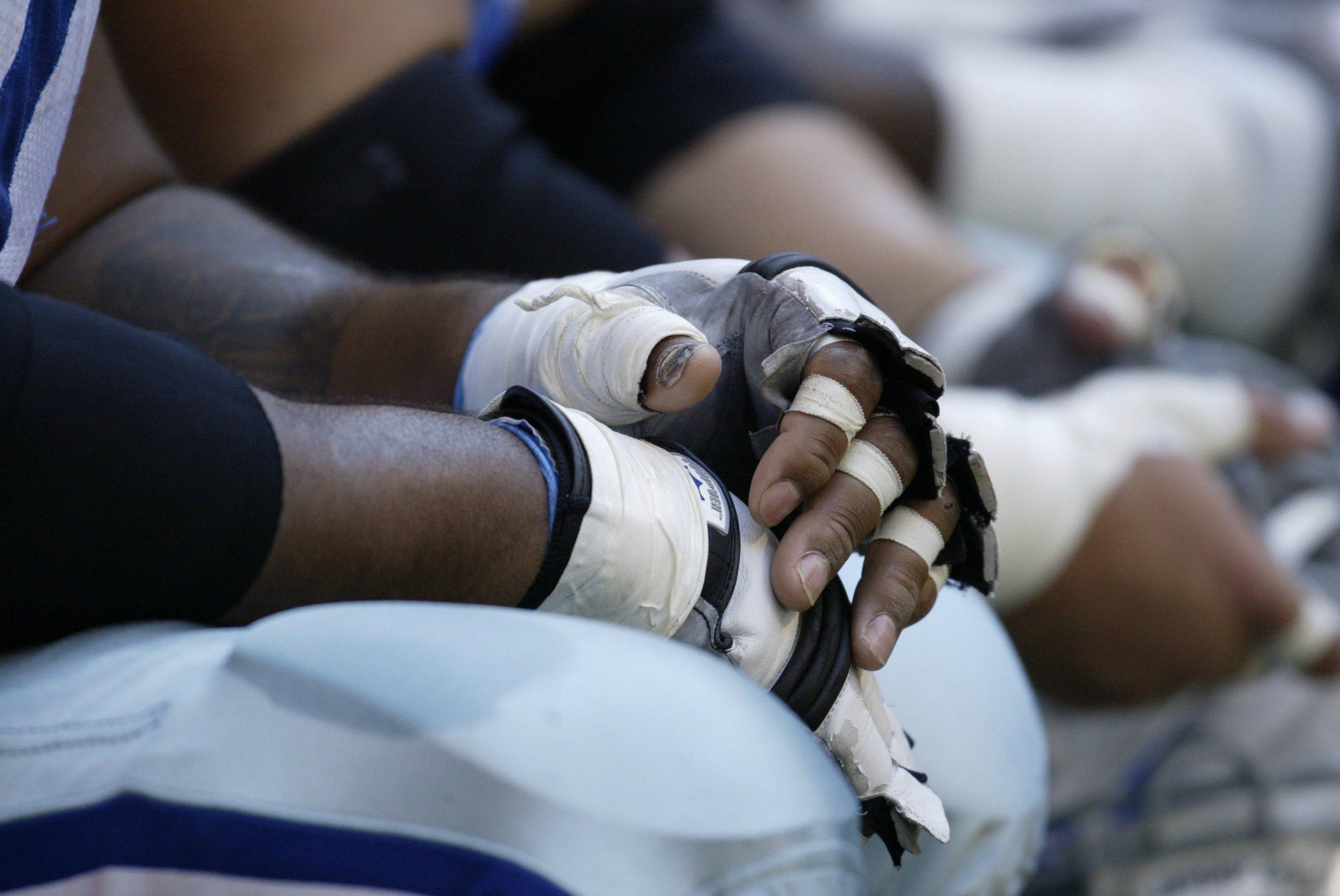 Football Players Hands