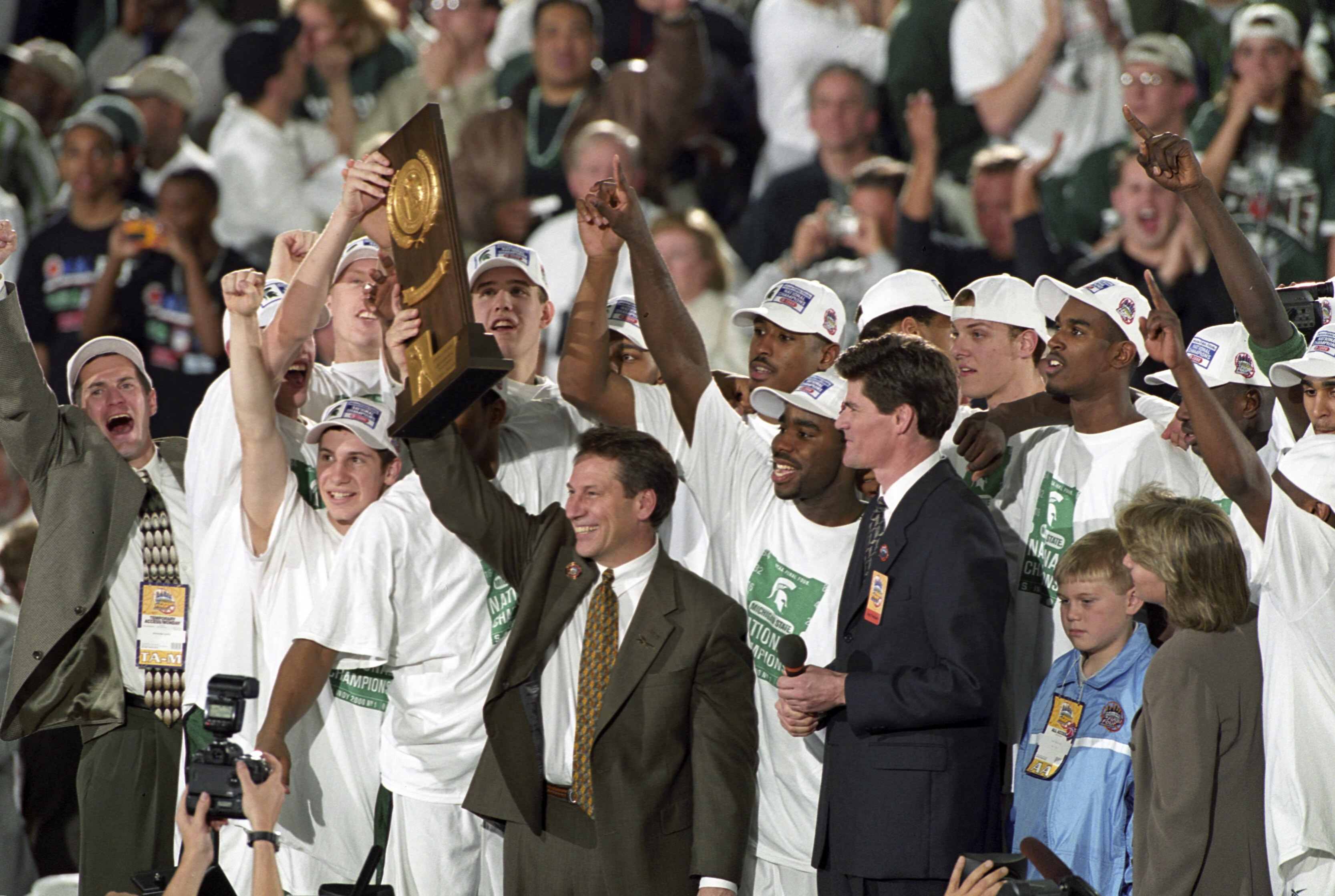Michigan State University Coach Tom Izzo, 2000 NCAA National Championship