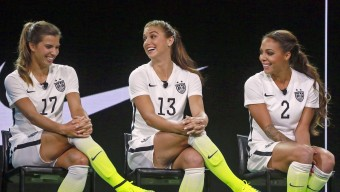Tobin Heath, Alex Morgan, Sydney Leroux