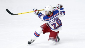 January 8, 2015: New York Rangers right wing Martin St. Louis (26) during the NHL regular season game between the New York Rangers and the Los Angeles Kings at the Staples Center in Los Angeles, CA.  (Icon Sportswire via AP Images)
