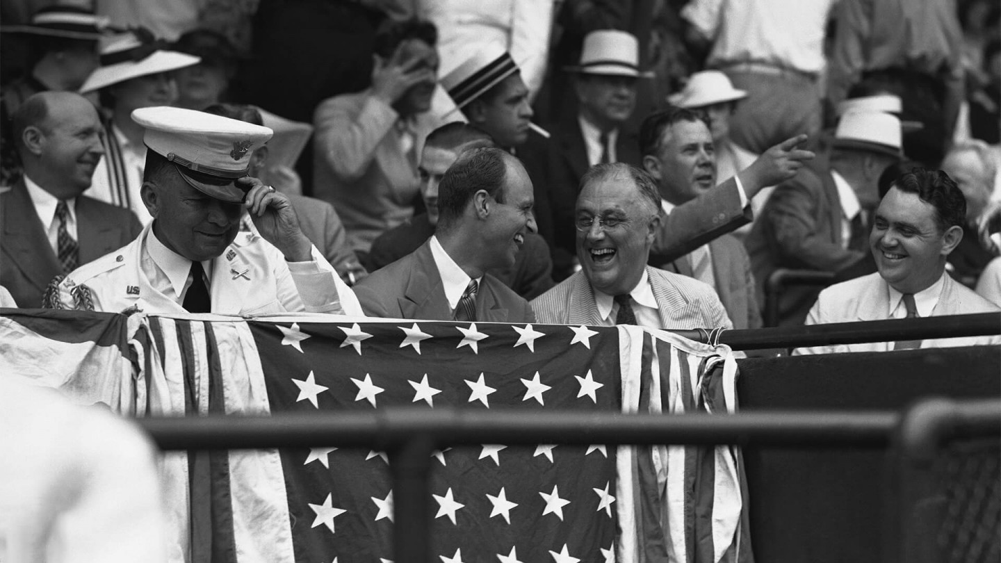 In 1937, FDR became the first president to attend an All-Star game.
