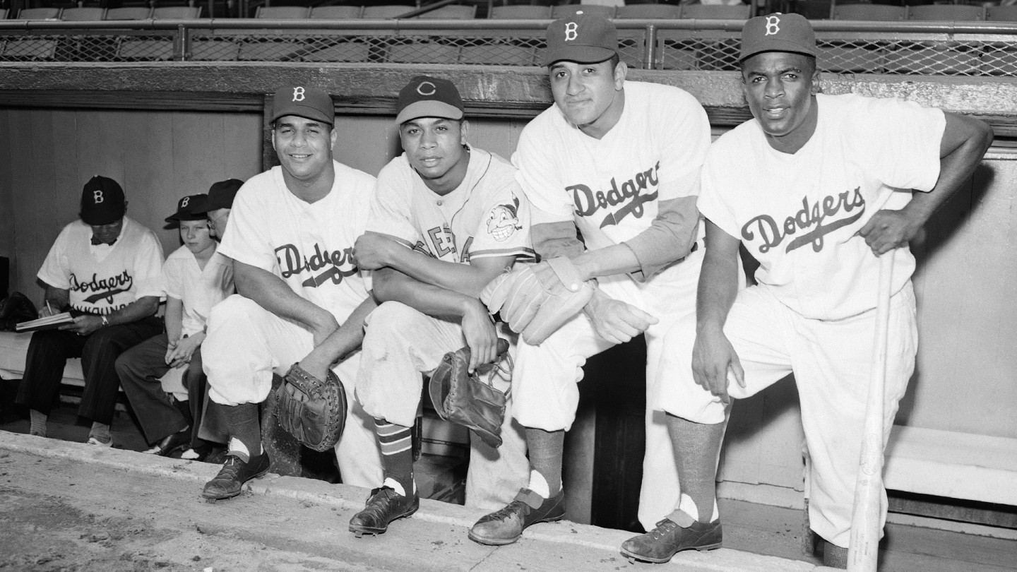 In 1949, African Americans played in the All-Star game for the first time, with Roy Campanella, Larry Doby, Don Newcombe and Jackie Robinson each participating. Robinson started the game and smacked a double.