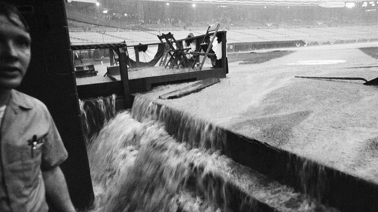 At RFK Stadium in Washington in 1969, rain forced the first-ever postponement of the All-Star game.