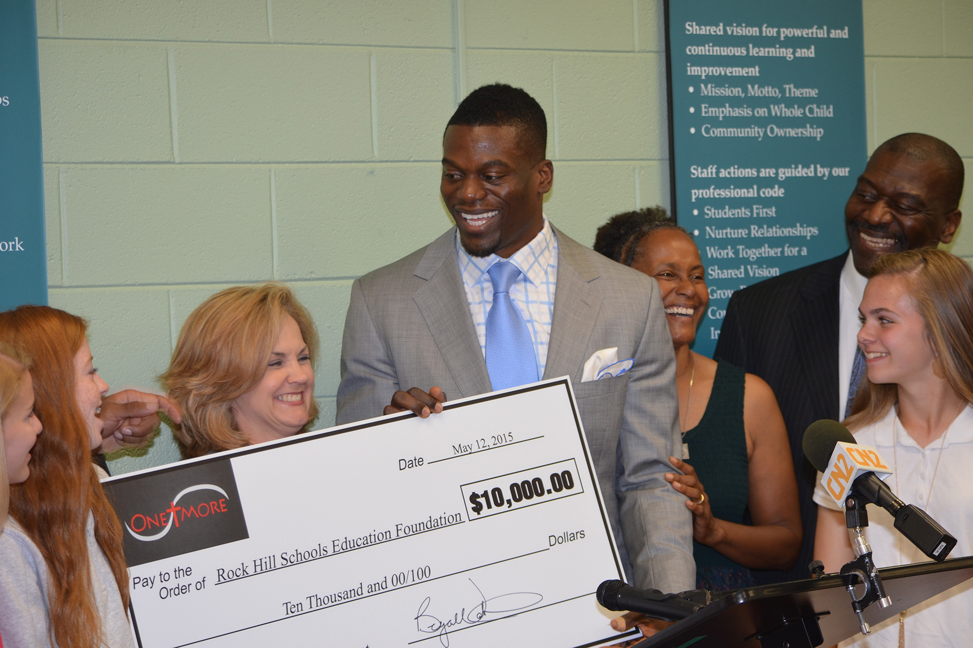 Benjamin-Watson-Rock-Hill-Scholarship-event