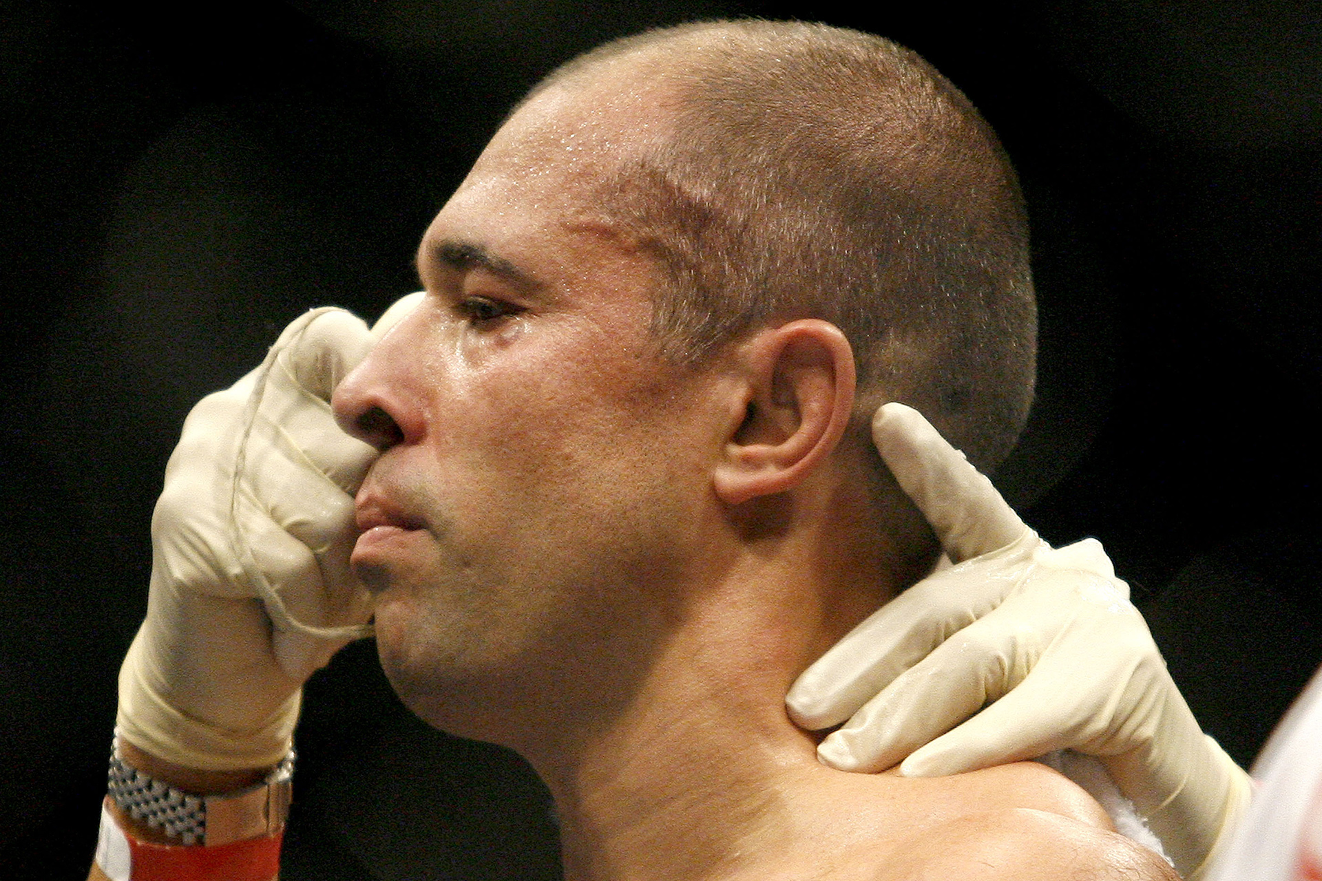Royce Gracie during Ultimate Fighting Championship 60 - Hughes vs Gracie at Staples Center in Los Angeles, California, United States. (Photo by Gregg DeGuire/Getty Images)
