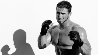 LAS VEGAS, NV - NOVEMBER 22: Ken Shamrock poses during a portrait shoot prior to UFC 40 on November 22, 2002 in Las Vegas, Nevada. (Photo by Kevin Lynch/Zuffa LLC/Zuffa LLC via Getty Images)