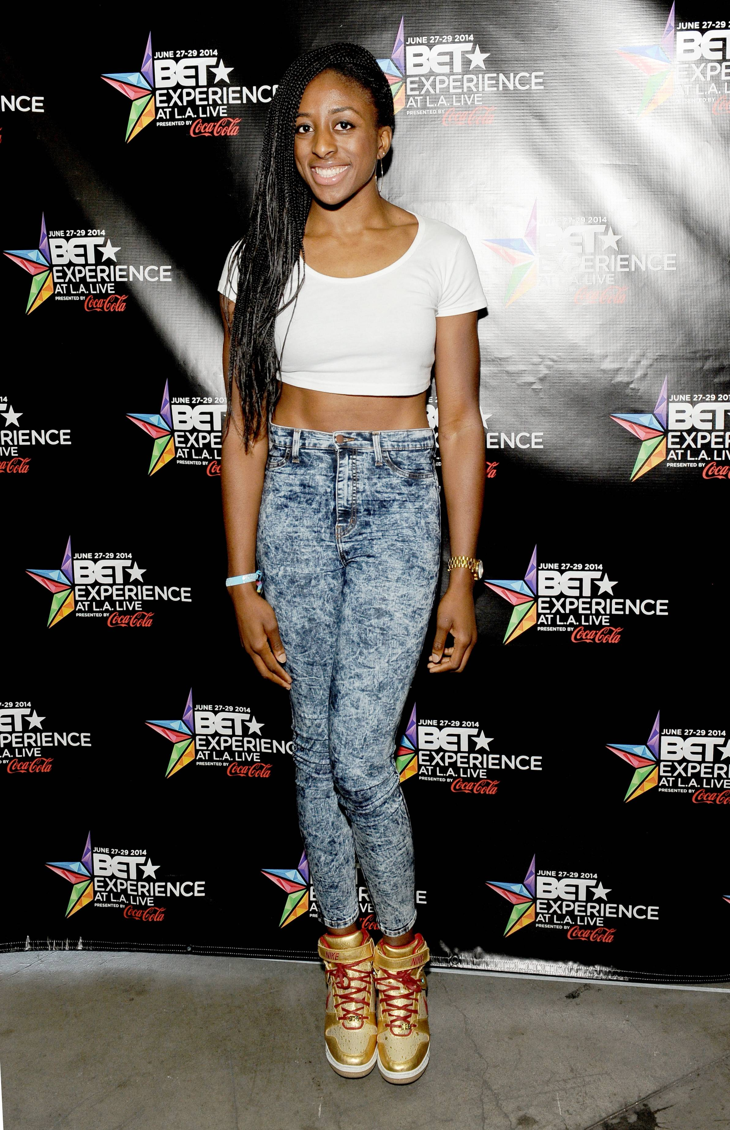 attends day 2 of a gifting suite during the 2014 BET Experience at L.A. LIVE on June 29, 2014 in Los Angeles, California.