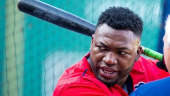 BOSTON, MA - AUGUST 20: David Ortiz #34 of the Boston Red Sox stands outside the batting cage before a game against the Kansas City Royals at Fenway Park on August 20, 2015 in Boston, Massachusetts. (Photo by Rich Gagnon/Getty Images)
