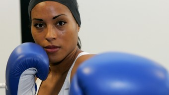 BERLIN - JANUARY 24:  Cecilia Braekhus of Norway poses during a photocall at the Sauerland Box Gym on January 24, 2008 in Berlin, Germany. The light welterweight fight between Cecilia Braekhus of Norway and Wanda Pena Ozuna of Dominican Republic will take place at the Berlin Tempodrom on January 26, 2008 in Berlin, Germany.  (Photo by Martin Rose/Bongarts/Getty Images)