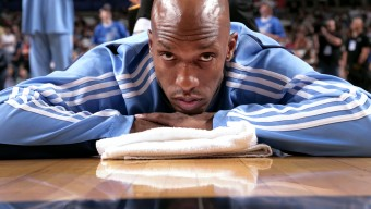 DALLAS - MAY 9:  Chauncey Billups #7 of the Denver Nuggets stretches on the court prior to Game Three of the Western Conference Semifinals during the 2009 NBA Playoffs against the Dallas Mavericks at American Airlines Center on May 9, 2009 in Dallas, Texas.  The Nuggets won 106-105.  NOTE TO USER: User expressly acknowledges and agrees that, by downloading and/or using this Photograph, user is consenting to the terms and conditions of the Getty Images License Agreement. Mandatory Copyright Notice: Copyright 2009 NBAE (Photo by Glenn James/NBAE via Getty Images)