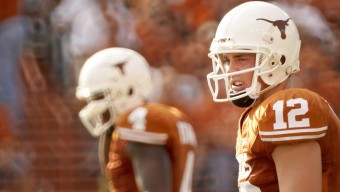 College Football: Texas QB Colt McCoy (12) during game vs UTEP. Austin, TX 9/26/2009 CREDIT: Darren Carroll (Photo by Darren Carroll /Sports Illustrated/Getty Images) (Set Number: X82976 TK1 R1 F49 )