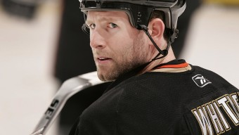 ANAHEIM, CA - NOVEMBER 5:  Ryan Whitney #19 of the Anaheim Ducks skates on the ice during warm up prior to the game against the Nashville Predators on November 5, 2009 at Honda Center in Anaheim, California. (Photo by Debora Robinson/NHLI via Getty Images)