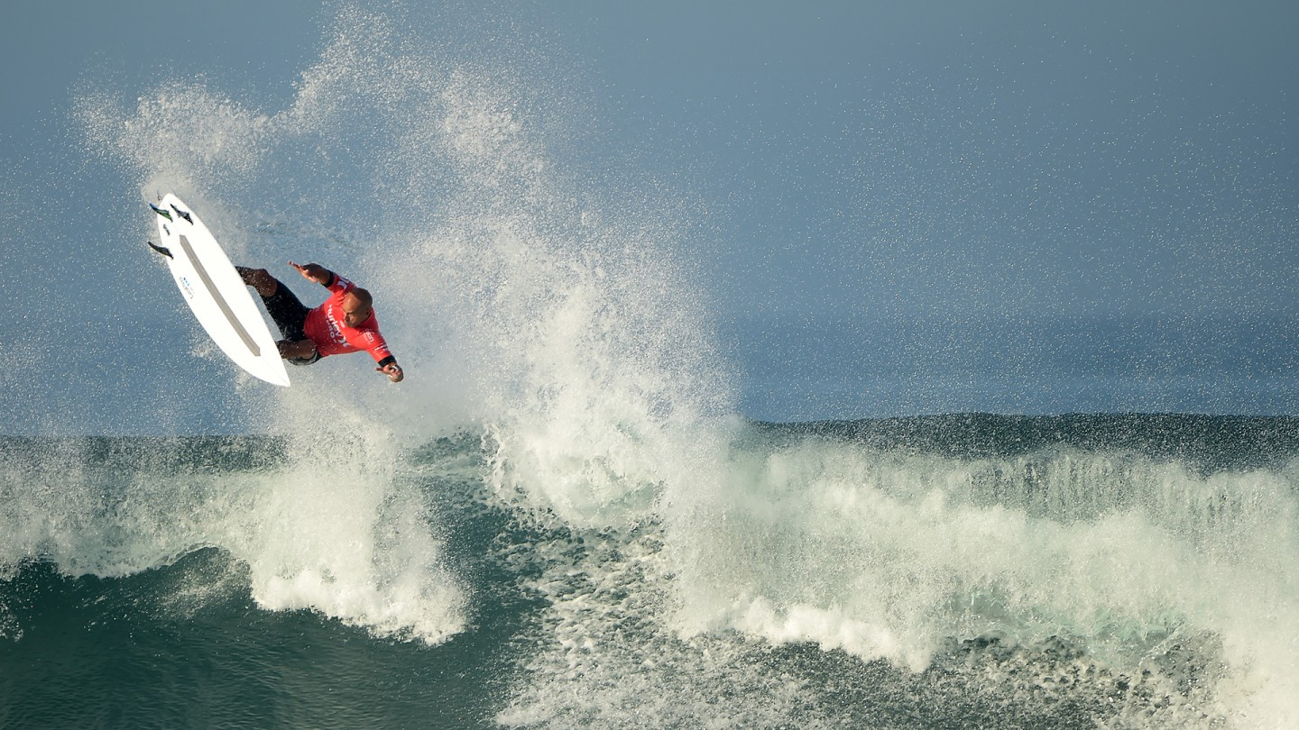 Kelly Slater airs it out.