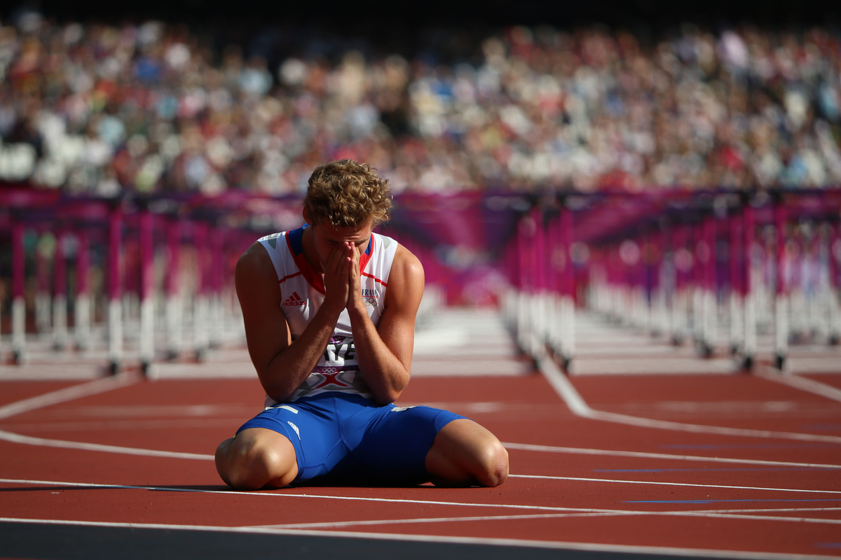 Kevin Mayer of France during track and field at the Olympic Stadium during day 13 of the London Olympic Games in London, England, United Kingdom on August 9, 2012.