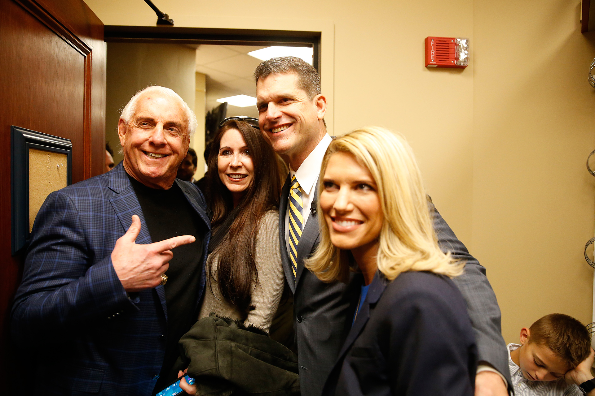 WWE wrestler Ric Flair was on hand to witness the festivities.