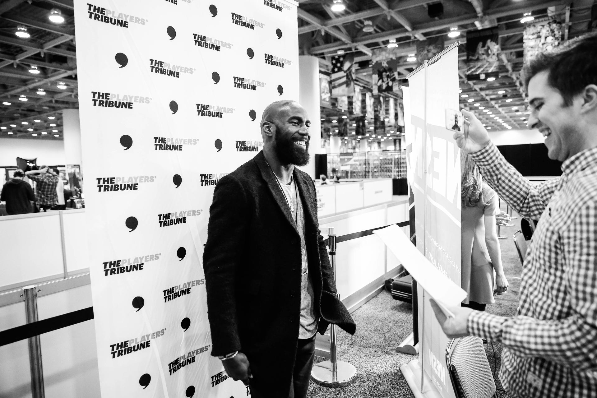 Philadelphia Eagles safety Malcolm Jenkins on the scene.