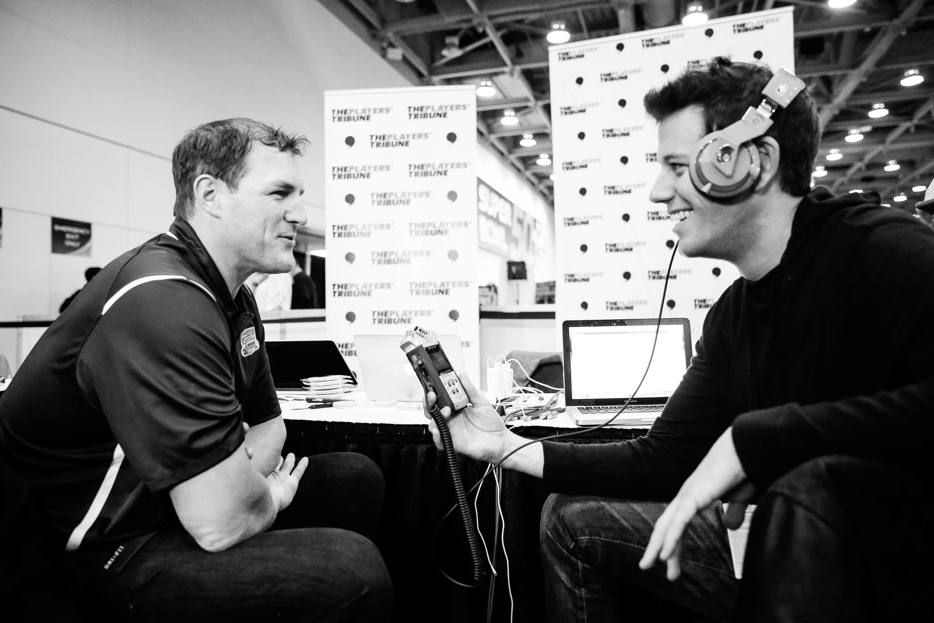Dallas Cowboys tight end Jason Witten stopped by the booth.
