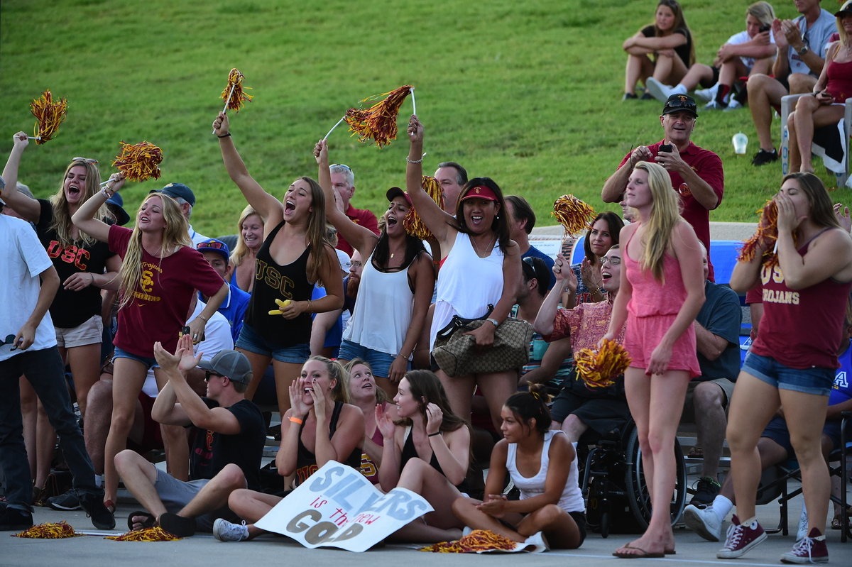 The Trojans came up short in the title game, but they had brought out one of the largest and loudest fan sections