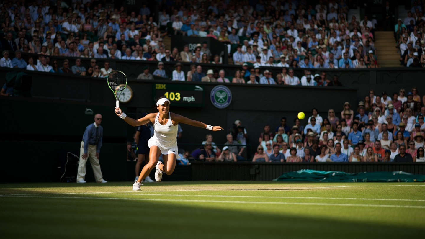Heather Watson got within two points of an upset win against Serena Williams on Centre Court on Day 5.