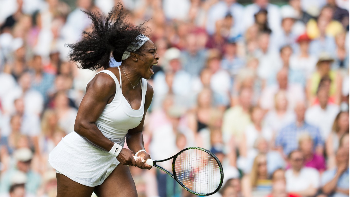 Serena Williams defeated Heather Watson on Centre Court, Day 5.