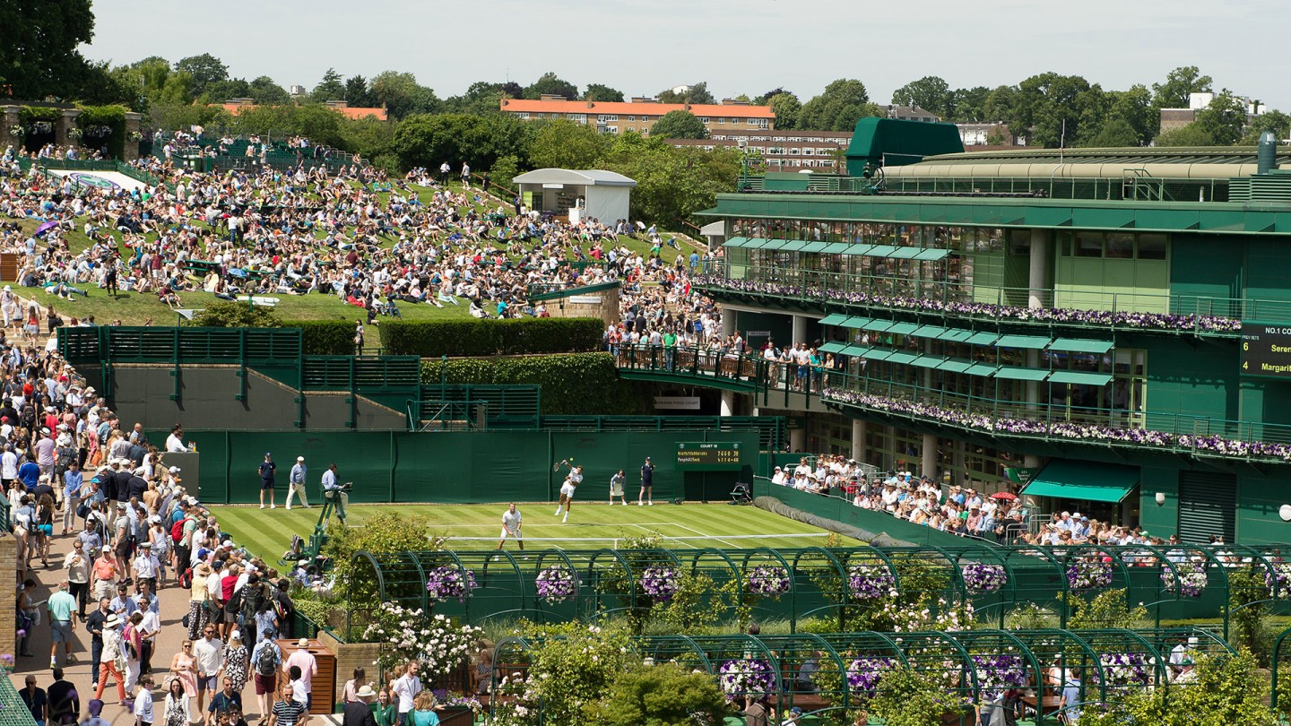General View of Court 19 on Day 1.