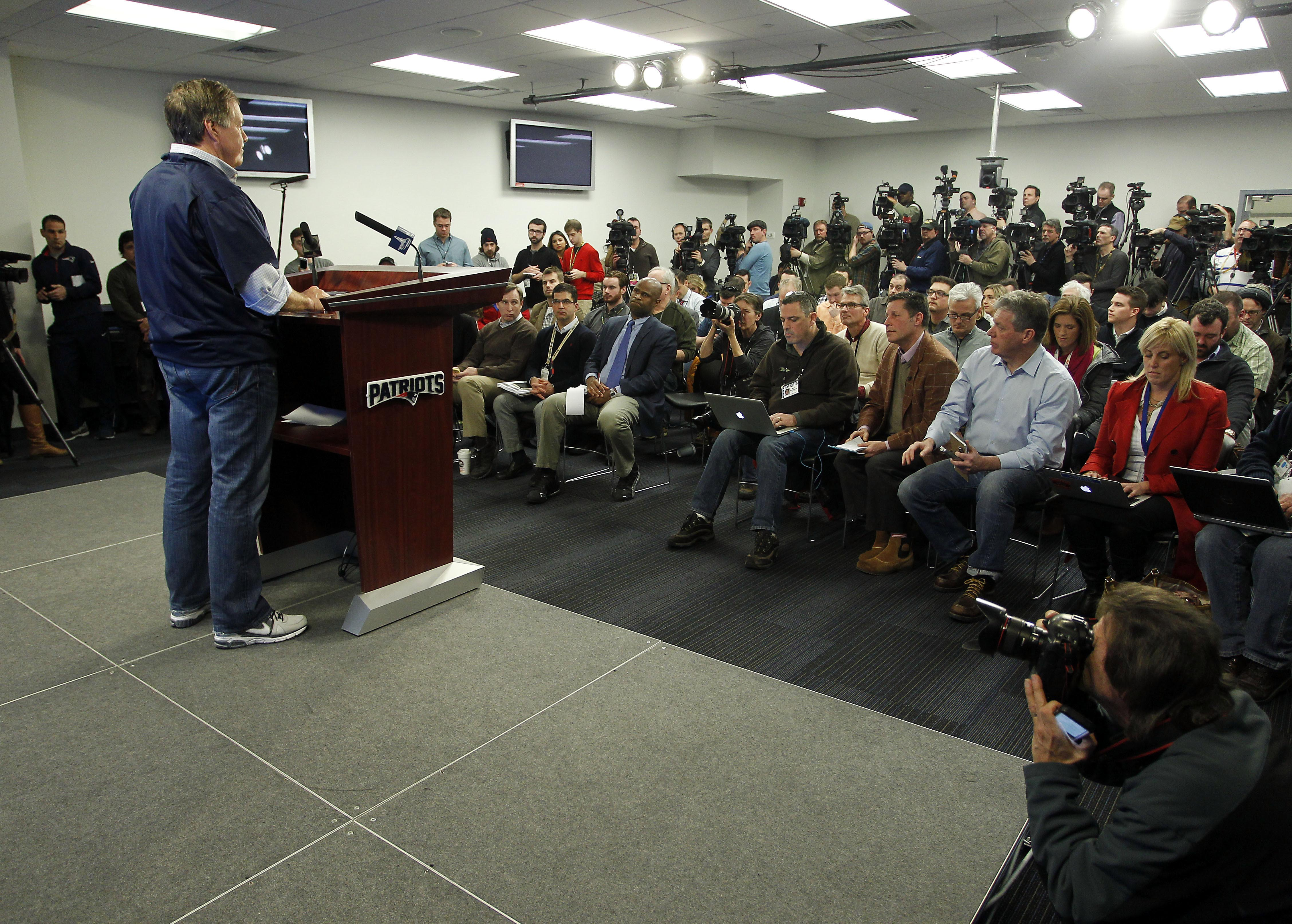 NFL: New England Patriots-Press Conference