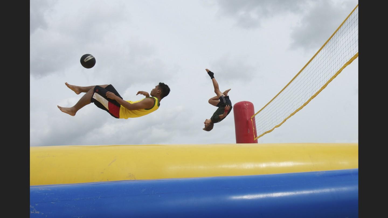Belgian Sport of bossaball | Zoetermeer, Holland