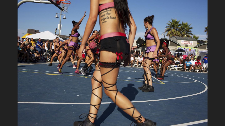 Lingerie Basketball League exhibition game | Venice Beach, California