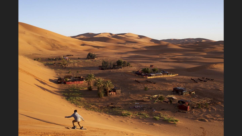 Sand boarding | Sahara Desert