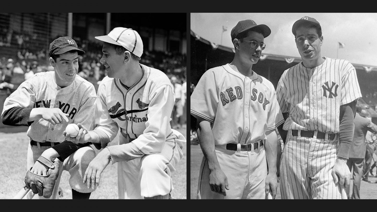 In 1936, Joe Dimaggio (left, with Dizzy Dean) became the first rookie to start an All-Star game. In 1941, Dimaggio and his brother Dom became the first pair of brothers to appear in an All-Star game together.