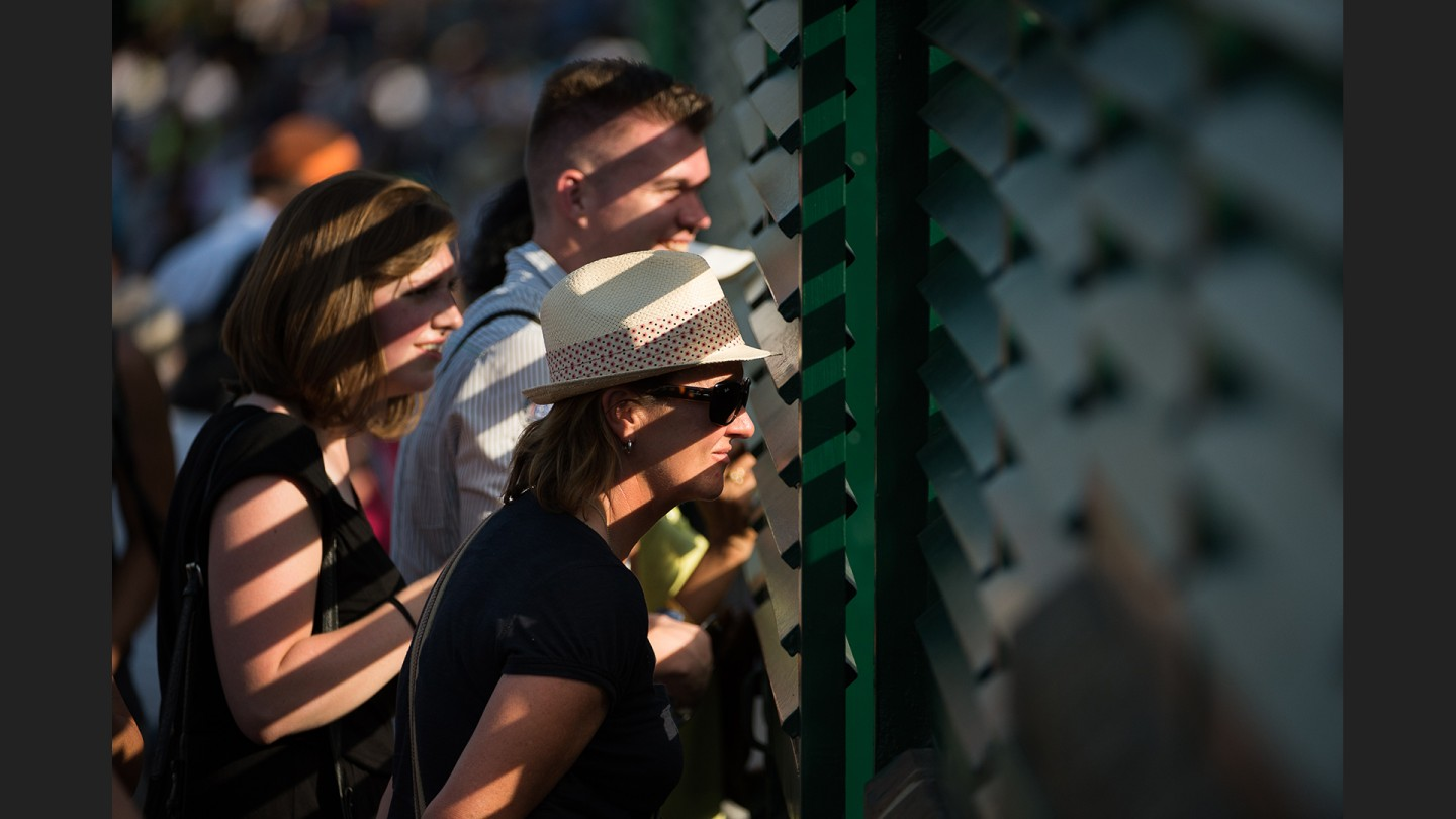 Spectators look into court 18 on Day 3.