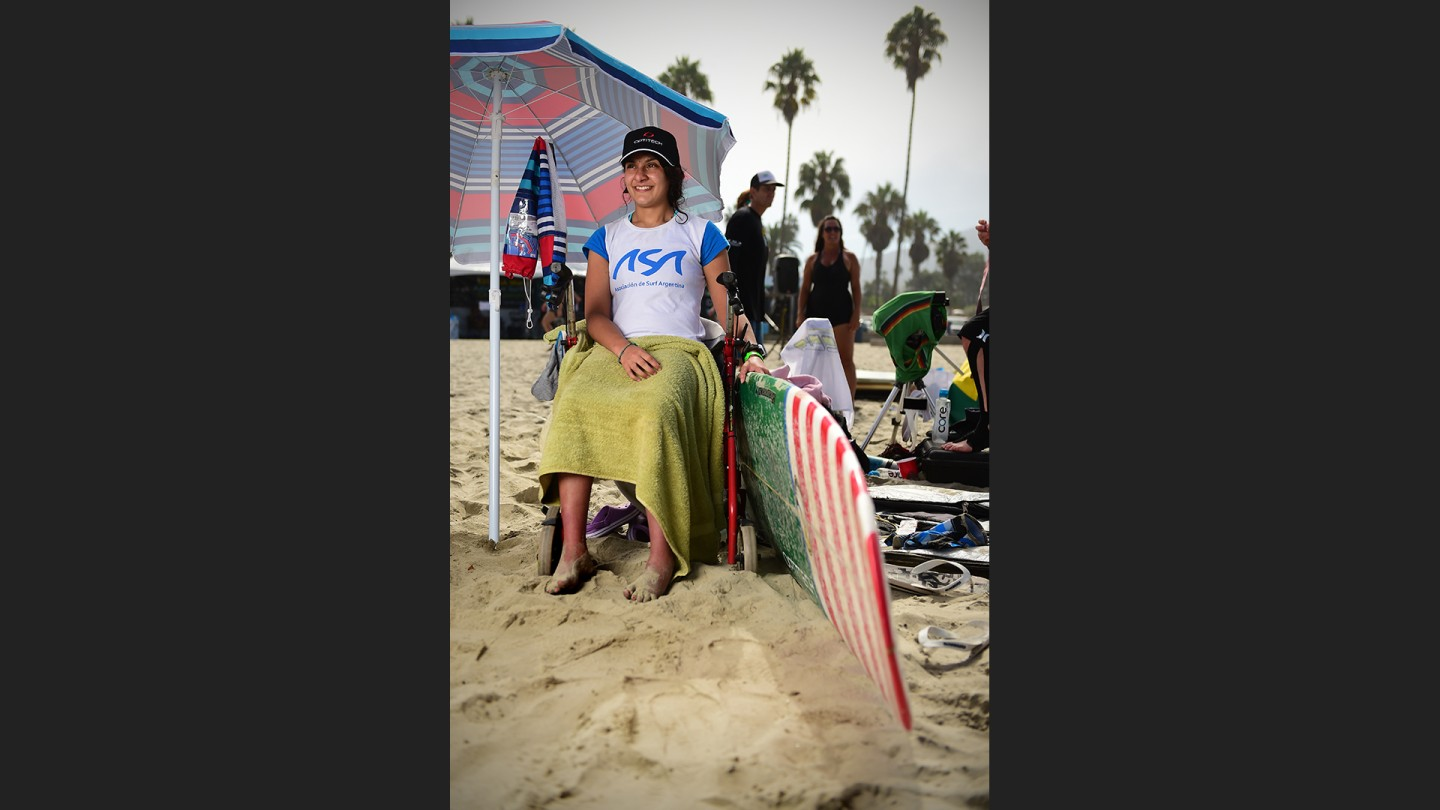 Evelyn Gimeno is a 21 year old from Argentina. Cerebral Palsey can't keep her out of the water.