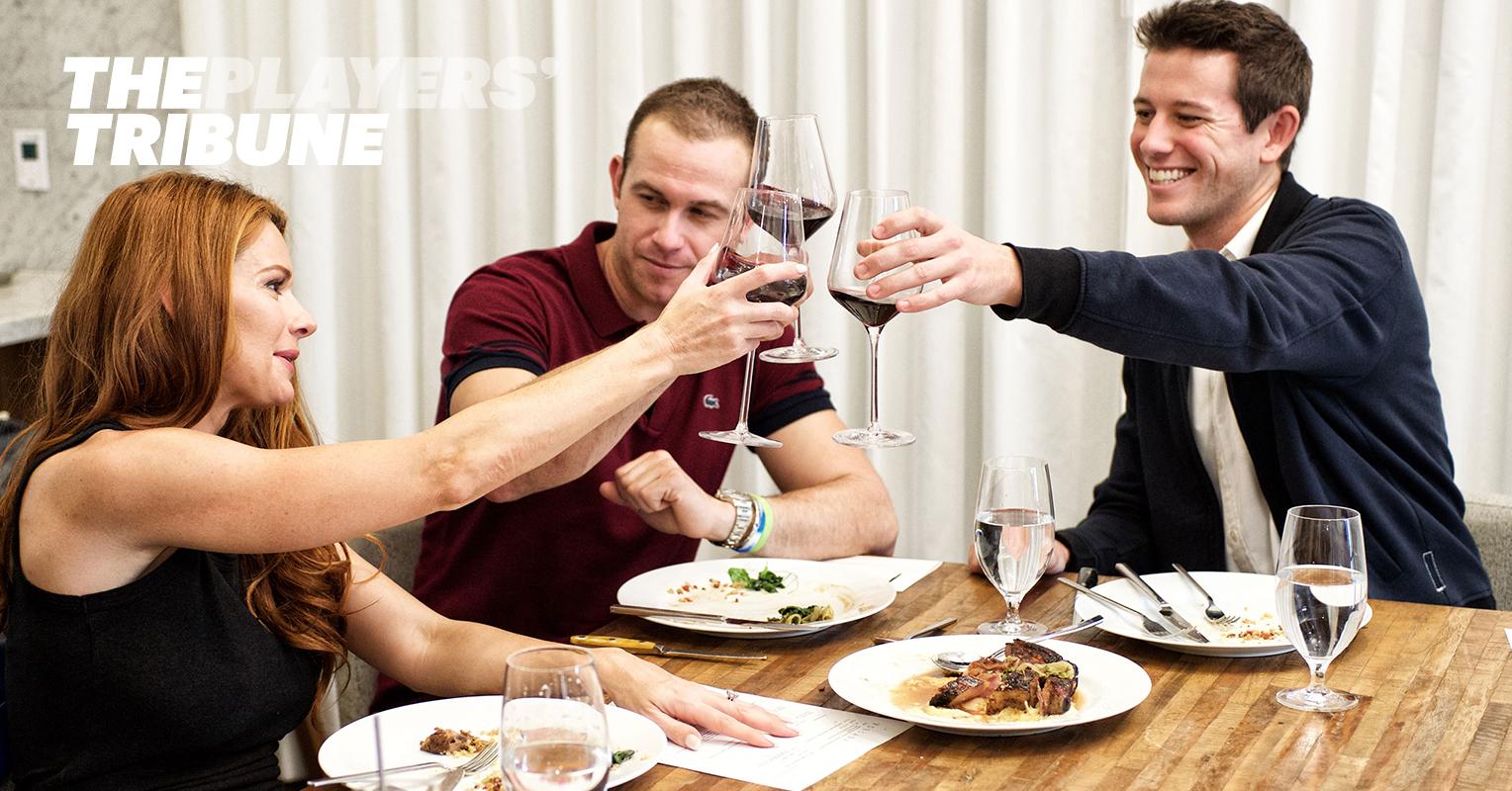 real fan life evan longorias wedding tasting ben office fan