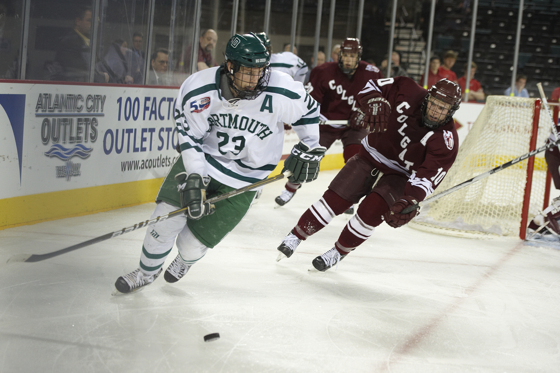 College Hockey: ECAC Hockey Tournament: Dartmouth Adam Estoclet (23) in action vs Colgate during 3rd Place Game at Boardwalk Hall.Atlantic City, NJ 3/19/2011CREDIT: Lou Capozzola (Photo by Lou Capozzola /Sports Illustrated/Getty Images)(Set Number: X85650 TK1 R6 F19 )
