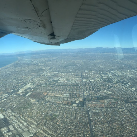Looking north departing KLGB