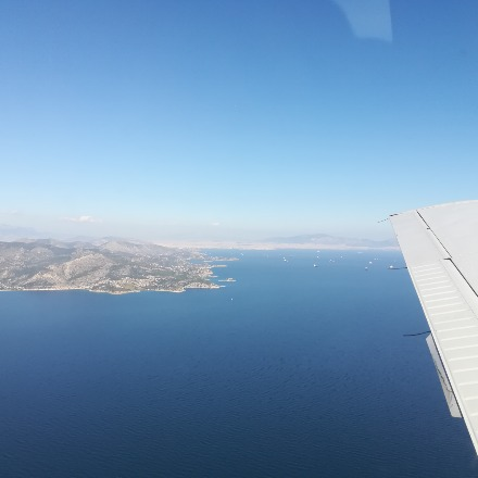 over Aegina (Athens view)
