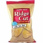 Ridge_cut_potato_chips_with_sea_salt