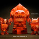 Scott_wilkowski_infects_the_giant_robot_biennal_3_show-custom_edition_of_30_red_flatwood_monsters-trampt-1148t