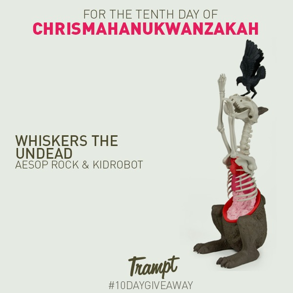 Wrapping_up_our_chrismahanukwanzakah_giveaway-aesop_rocks_whiskers_the_undead_by_kidrobot-trampt-2740m