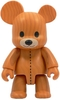 "Wood Grain Teddy Bear Qee 8"" - Light"
